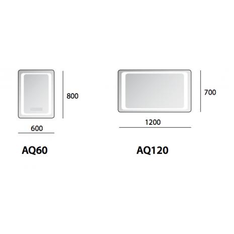 Kylpyhuoneen peili LED taustavalolla BALTECO AQ - Interbauen ... 12b1809c50